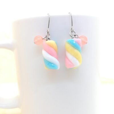 Marshmallow Twists _ Sweets Earrings