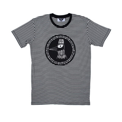 Kingdom Of Klah The Boney Birds Of Revelry Striped Tee
