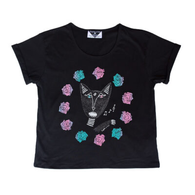Kingdom Of Klah The Native Singing Cats Women's Baroness Tee, Metallic