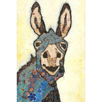 Affordable Mixed Media Donkey Art Print