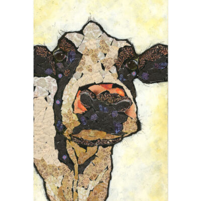 Affordable Mixed Media Cow Art Print
