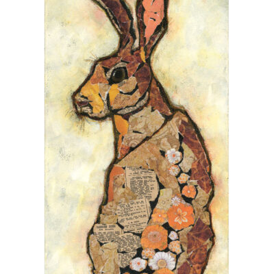 Affordable Mixed Media Hare Art Print