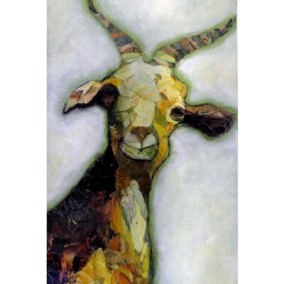 Affordable Mixed Media Goat Art Print
