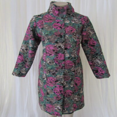 Green Floral Coat