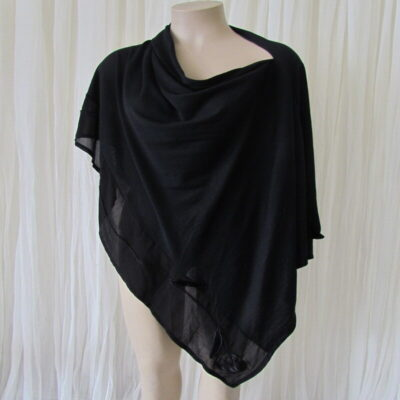 100% Merino Black Shawl