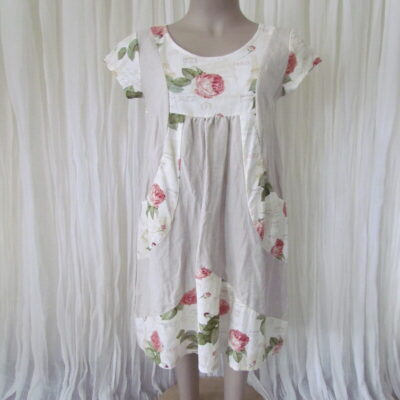 Natural Rose Linen Dress