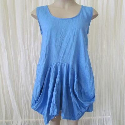 Cornflour Linen Dress