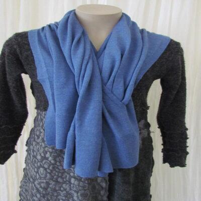 Blue Berry 100% Merino Knit Shawl