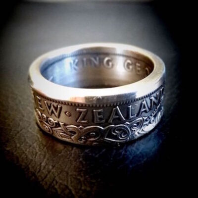 NZ Half Crown Coin Ring
