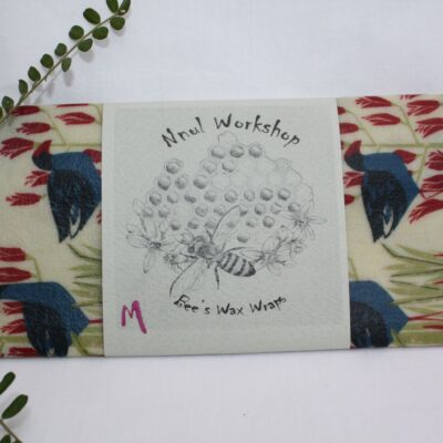 Single Medium Beeswax Wraps