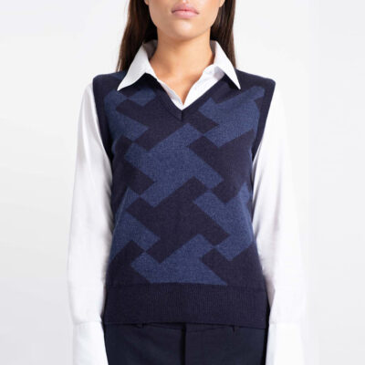Miss Madison Knit Vest Navy