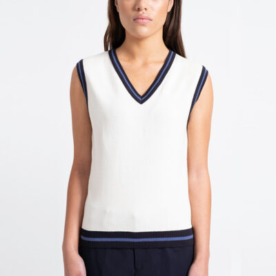 Miss Hadley Knit Vest Blue