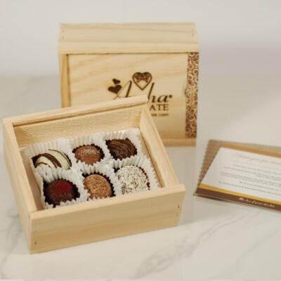 Six Mixed Chocolate Truffle Gift Box