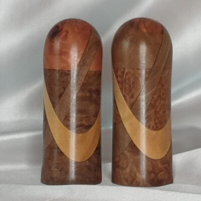 2 Ring Aussie Burl Salt And Pepper Shaker