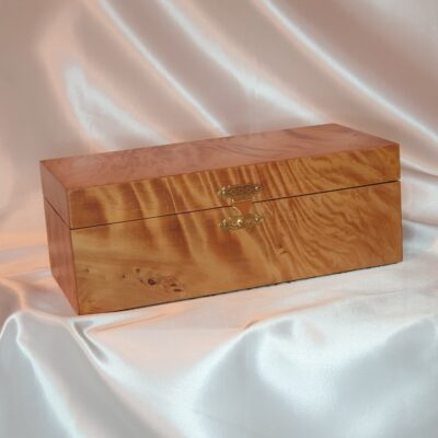 Rectangle Trinket Box Burl Matai