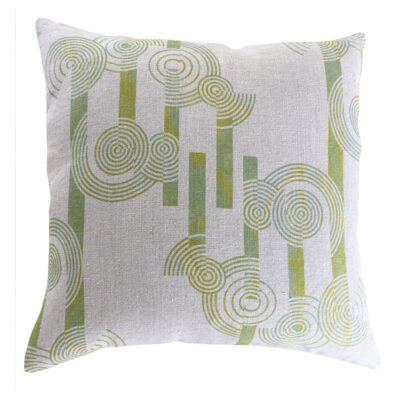 Concentric Circles Cushion Cover – Organic Linen