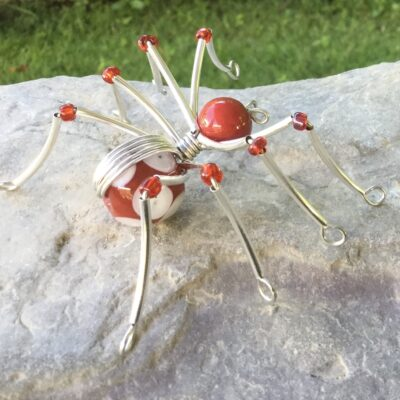 Red Beaded Spider