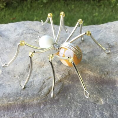 Yellow/white Beaded Spider