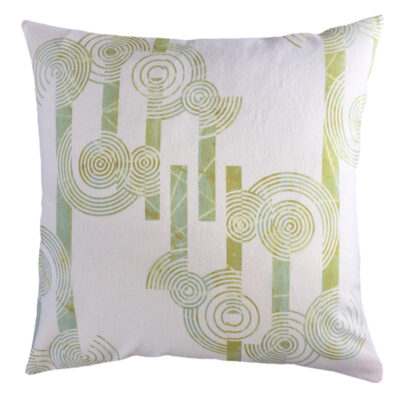 Concentric Circles Cushion Cover – Hemp/Organic Cotton (mid-weight Fabric)