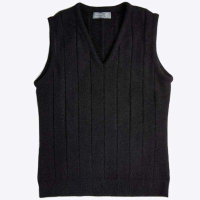 Women's Possum Merino Knit Vest Black