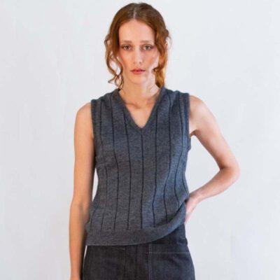 Women's Possum Merino Knit Vest