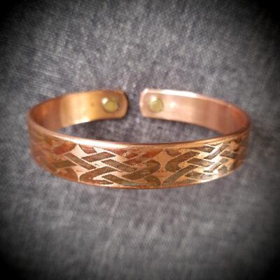 """Magnet Copper Bracelet """"Made To Size"""" CELTIC WEAVE LARGE"""