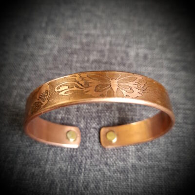 """100% Copper Bracelet """"Made To Size"""" Butterfly"""