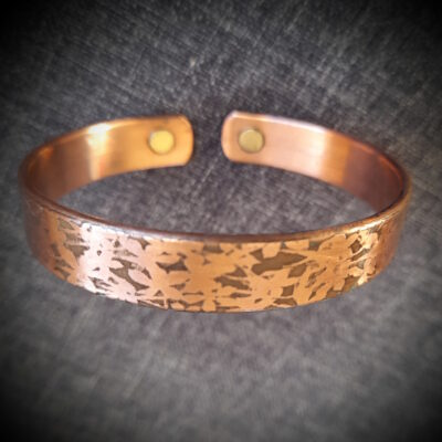 """Magnet Copper Bracelet """"Made To Size"""" Flowers Shadow"""
