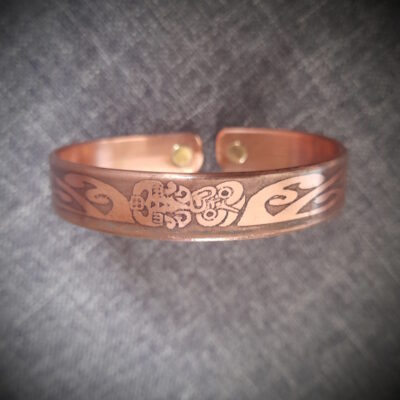 "Magnet Copper Bracelet ""Made To Size"" Tiki"
