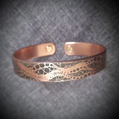"""Magnet Copper Bracelet """"Made To Size"""" Water"""