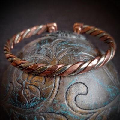 "Magnet Copper Bracelet ""2 Tone"""