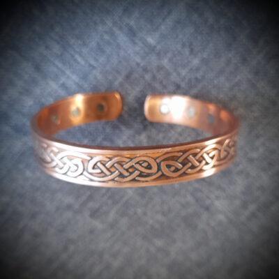 """6 Magnet Copper Bracelet """"Celtic Weave"""""""