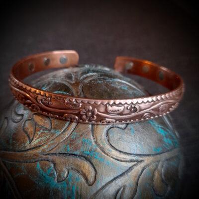 """Magnet Copper Bracelet """"Flower"""""""